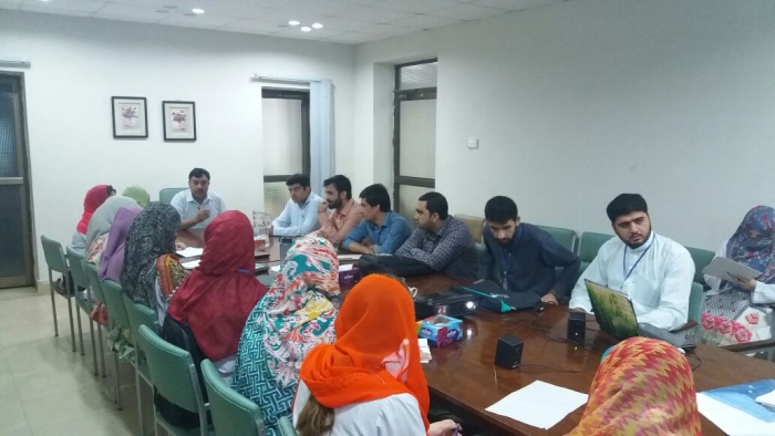 Prof. Dr. Ghulam Rasool (Dean KCD), and Trainees at the Research Workshop